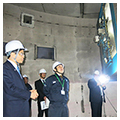 Mr. Keiichi Ishii, the minister of Land, Infrastructure, Transport and Tourism visited PWRI